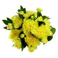 yellow carnations flower bouquet