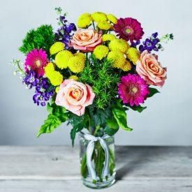 Bright Garden Scents Vase Pink