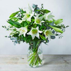 Longiflorum Lilies Bouquet Whiteby Waitrose Florist