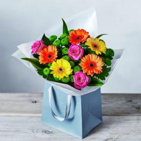 Bright & Beautiful Gift Bag Orangeby Waitrose Florist