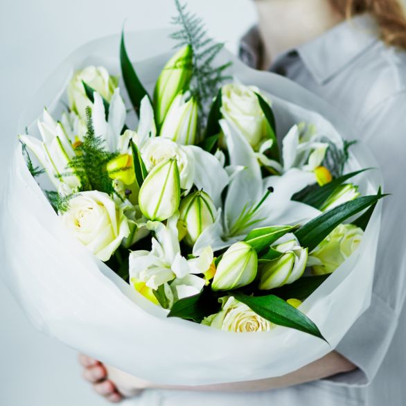 Scented White Lily Rose Bouquet By Waitrose Florist