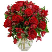 Red Rosmeria Bouquet
